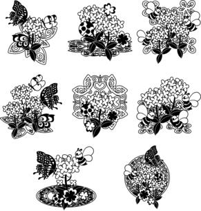 綺麗な菜の花のアイコンのイラスト素材 [FYI04736918]