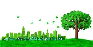 街並み 街 エコロジー 樹木のイラスト素材 [FYI04736993]