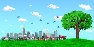 街並み 街 エコロジー 樹木 青空のイラスト素材 [FYI04736995]