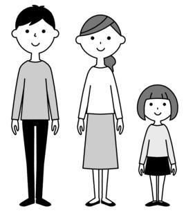 仲良しファミリー 二世代家族のイラスト素材 [FYI04737010]