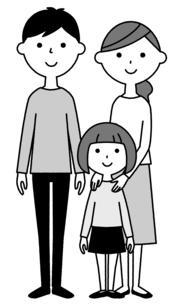 仲良しファミリー 二世代家族のイラスト素材 [FYI04737011]