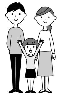 仲良しファミリー 二世代家族のイラスト素材 [FYI04737012]