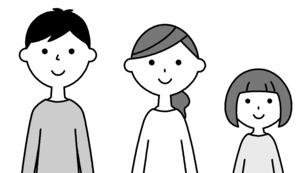 仲良しファミリー 二世代家族のイラスト素材 [FYI04737014]
