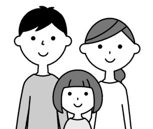 仲良しファミリー 二世代家族のイラスト素材 [FYI04737015]