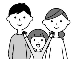 仲良しファミリー 二世代家族のイラスト素材 [FYI04737016]