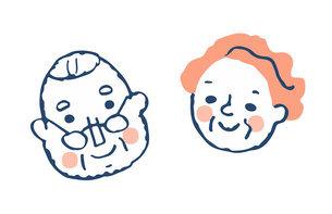 笑顔のシニアカップルのイラスト素材 [FYI04737054]