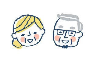 笑顔のシニアカップルのイラスト素材 [FYI04737057]