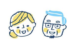 笑顔のシニアカップルのイラスト素材 [FYI04737058]