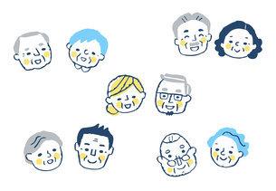 笑顔のシニアカップル 5組のイラスト素材 [FYI04737061]