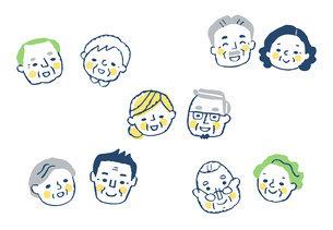 笑顔のシニアカップル 5組のイラスト素材 [FYI04737062]