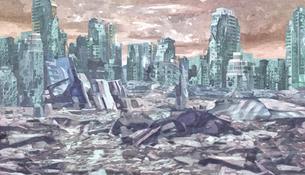核戦争後の都市のイラスト素材 [FYI04737097]