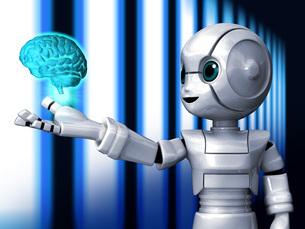 ロボットAi脳Lのイラスト素材 [FYI04737192]