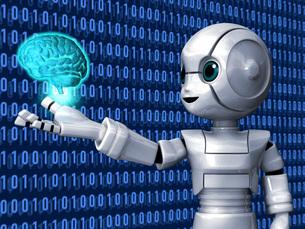 ロボットAi脳Bのイラスト素材 [FYI04737193]