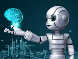 ロボットAi脳Gのイラスト素材 [FYI04737195]