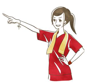 指さす女性-スポーツのイラスト素材 [FYI04737239]