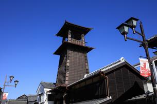 川越の時の鐘の写真素材 [FYI04737744]