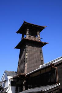 川越の時の鐘の写真素材 [FYI04737745]