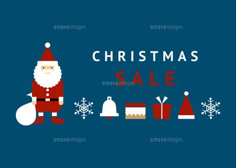 サンタクロース クリスマスセール 販促用のイラスト素材 [FYI04737822]
