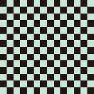 市松模様 黒×緑 M 7のイラスト素材 [FYI04737957]