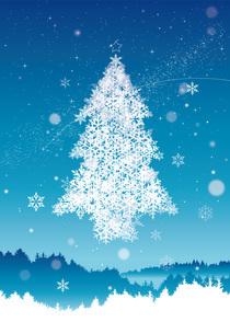 クリスマスツリーのイラスト素材 [FYI04738096]