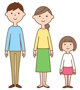 仲良しファミリー 二世代家族のイラスト素材 [FYI04738311]