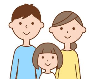 仲良しファミリー 二世代家族のイラスト素材 [FYI04738319]