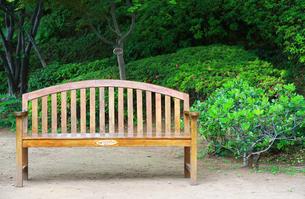 公園のベンチの写真素材 [FYI04738479]