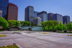 和田倉噴水公園、新型コロナウィルス騒ぎで噴水稼働停止の写真素材 [FYI04738590]