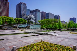 和田倉噴水公園、新型コロナウィルス騒ぎで噴水稼働停止の写真素材 [FYI04738591]