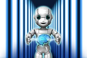 ロボットAi稲妻Lのイラスト素材 [FYI04738809]
