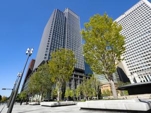 東京都 丸の内のオフィスビル街の写真素材 [FYI04738869]