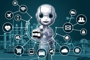 IoT ロボット 1のイラスト素材 [FYI04739207]