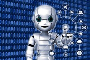 IoT ロボット 2 サイバーのイラスト素材 [FYI04739210]