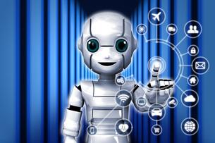 ロボットIoT2_Lのイラスト素材 [FYI04739212]
