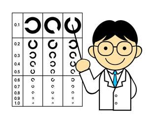 視力検査を行う医師のイラスト素材 [FYI04739580]