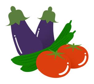 トマトとキュウリとナスのイラスト素材 [FYI04739582]