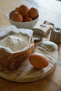 北海道産の小麦粉とたまごの写真素材 [FYI04739752]