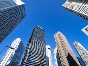 東京都 新宿高層ビル街の写真素材 [FYI04739826]