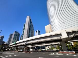 東京都 汐留の高層ビル街の写真素材 [FYI04739828]