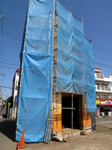 建設中の木造住宅の写真素材 [FYI04739884]