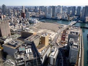 東京都 移転した旧築地市場の跡地の写真素材 [FYI04739933]