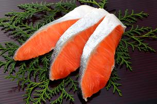 鮭の切り身の写真素材 [FYI04740149]