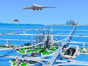 新海洋未来都市2青空のイラスト素材 [FYI04740160]