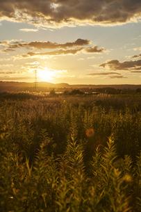 2020年釧路の夕景の写真素材 [FYI04740251]