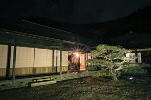 【香川県 高松市】秋の夜間ライトアップの栗林公園 掬月亭の写真素材 [FYI04740362]