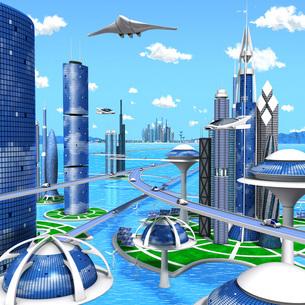 海洋未来都市のイラスト素材 [FYI04740365]