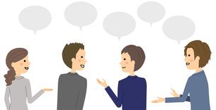 会話をする人達 ミーティングのイラスト素材 [FYI04740566]