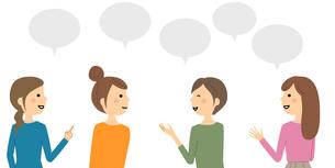 会話をする女性達のイラスト素材 [FYI04740570]