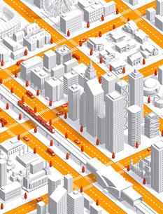 city isometric newwhiteのイラスト素材 [FYI04740599]