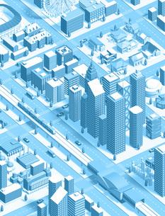 isometric city new lightblueのイラスト素材 [FYI04740601]